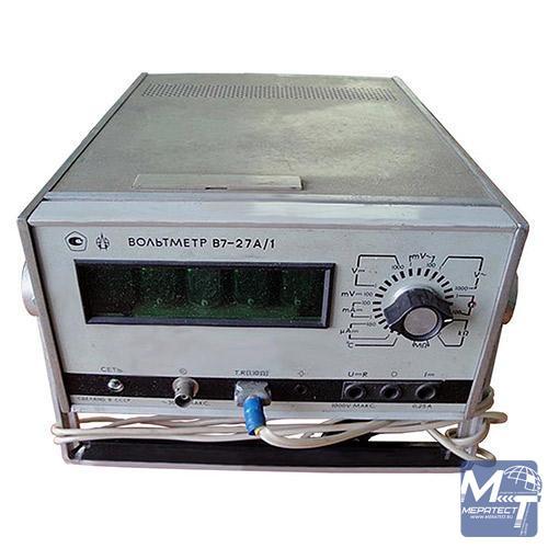 Вольтметр В7-27А/1 предназначен для измерения напряжений постоянного и переменного тока.  При помощи данного прибора...