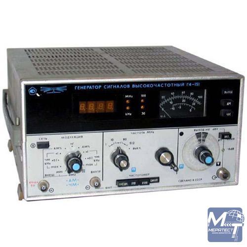 Генератор сигналов высокочастотный Г4-151 предназначен для настройки, регулировки и испытаний радиотехнических...